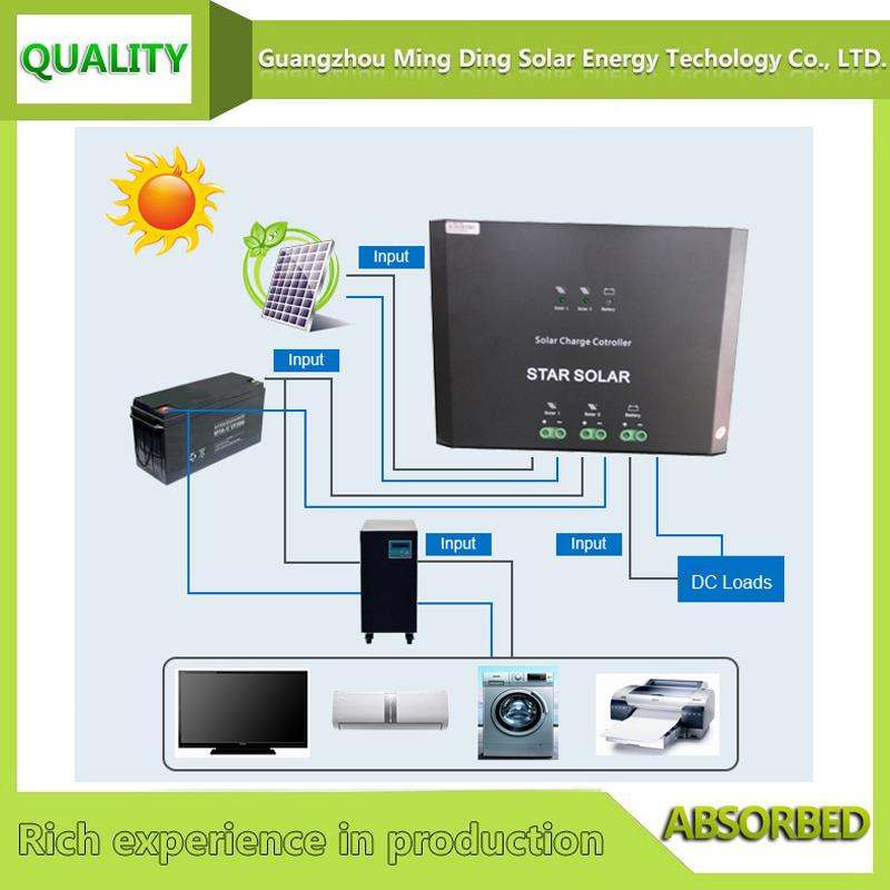Voltage stabilizer 80A solar charge controller for solar with LED display 3