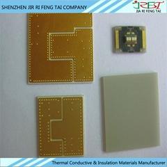 高导热ALN氮化铝陶瓷片 氮化铝陶瓷 可定做化学镀镍浸金 阻焊油墨