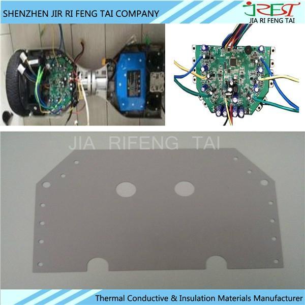 導熱矽膠片95*145*0.3MM 扭扭車矽膠片 硅膠軟墊片 散熱絕緣布 4