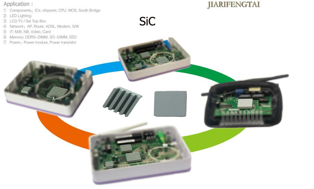 碳化硅导热陶瓷片 LED电源模组应用碳化硅陶瓷单面背胶 3