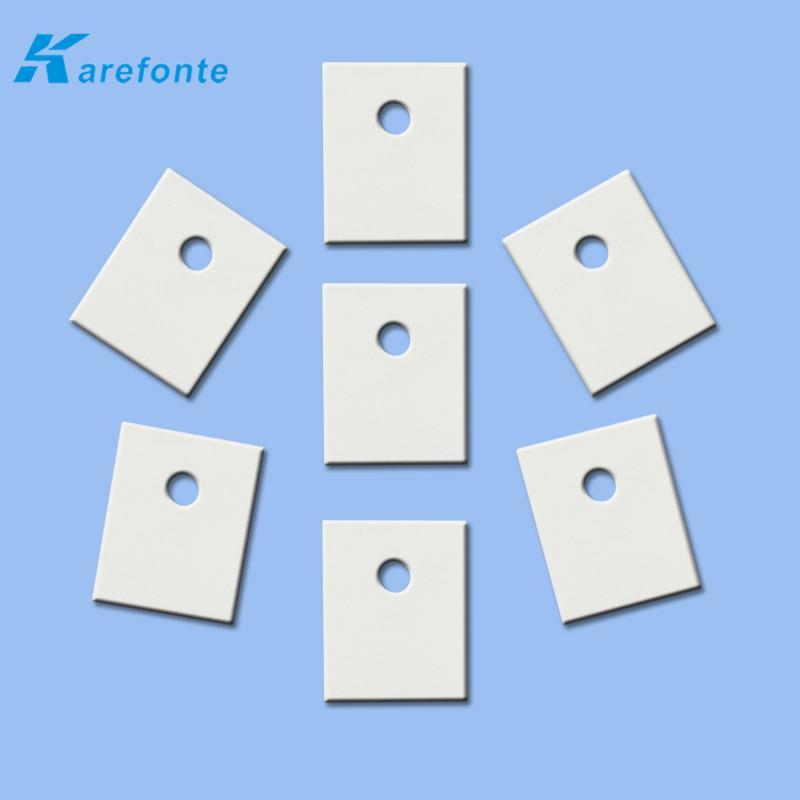 高导热陶瓷片 陶瓷垫片 氧化铝电子陶瓷片1MM*20MM*25MM 中间有孔 2