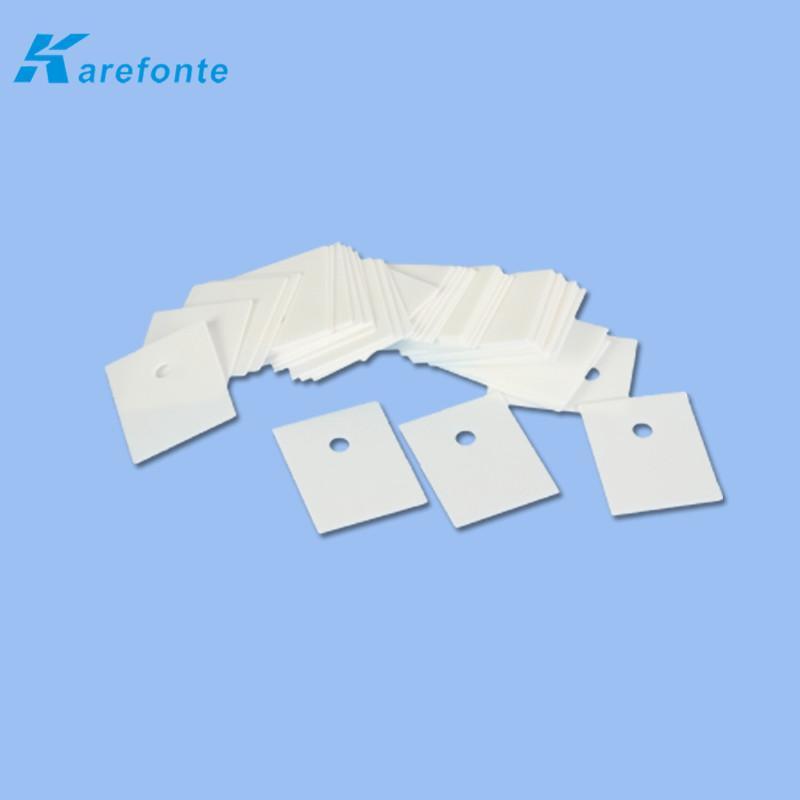 高导热陶瓷片 陶瓷垫片 氧化铝电子陶瓷片1MM*20MM*25MM 中间有孔 3
