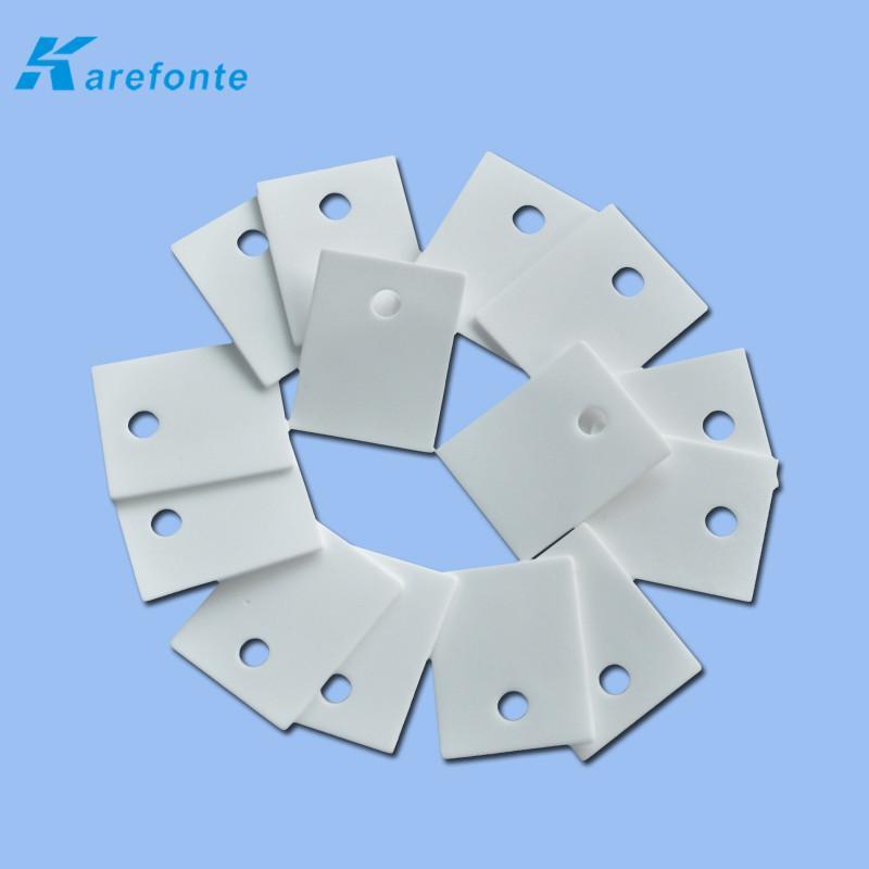 高导热陶瓷片 陶瓷垫片 氧化铝电子陶瓷片1MM*20MM*25MM 中间有孔 1