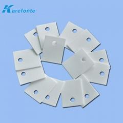 高导热陶瓷片 陶瓷垫片 氧化铝电子陶瓷片1MM*20MM*25MM 中间有孔