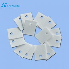 高導熱陶瓷片 陶瓷墊片 氧化鋁電子陶瓷片1MM*20MM*25MM 中間有孔