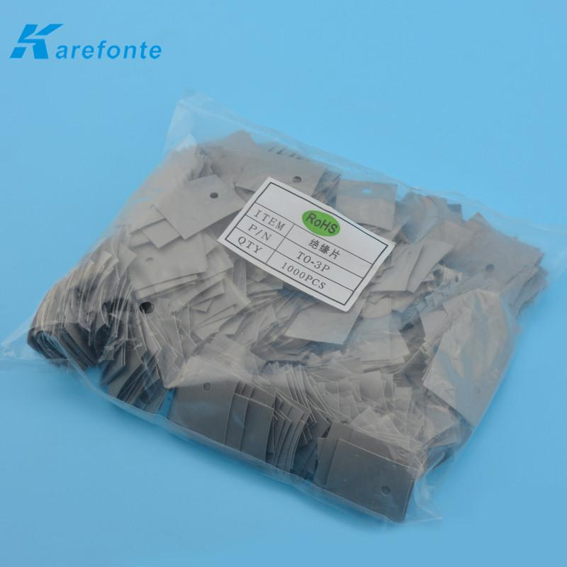 High Quality To-3P 20mm*25mm Thermal Insulaor Silicone Sheet  With Hole