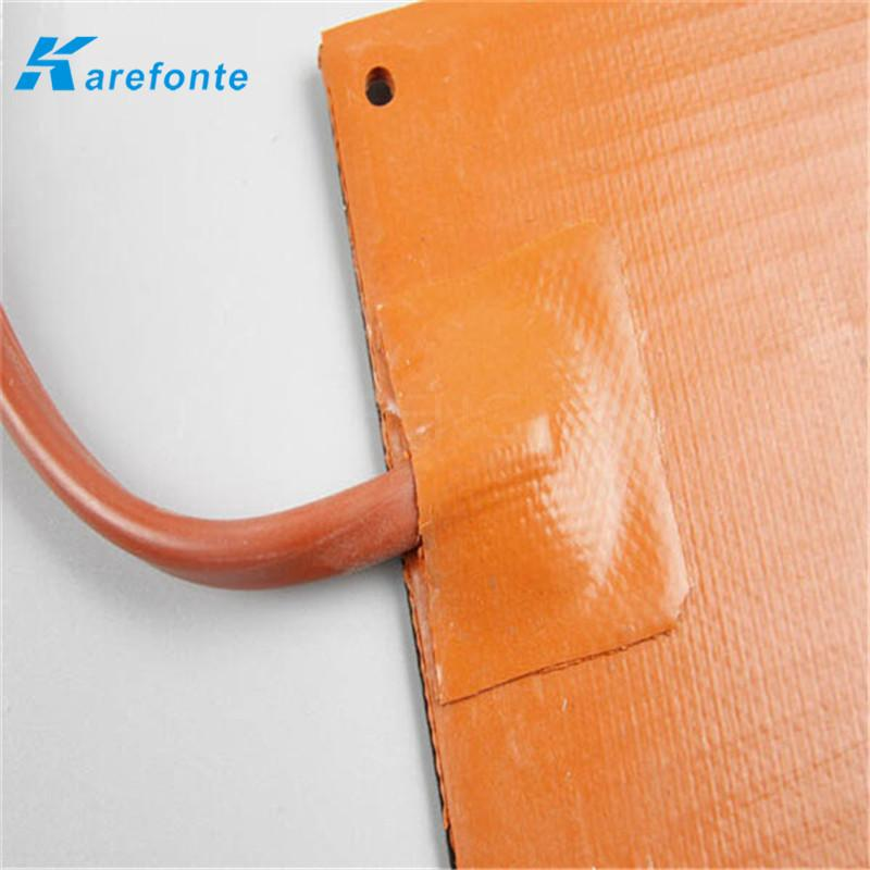 Silicone Rubber Flexible Polymide Film Heater / Silicone Heating Film  4