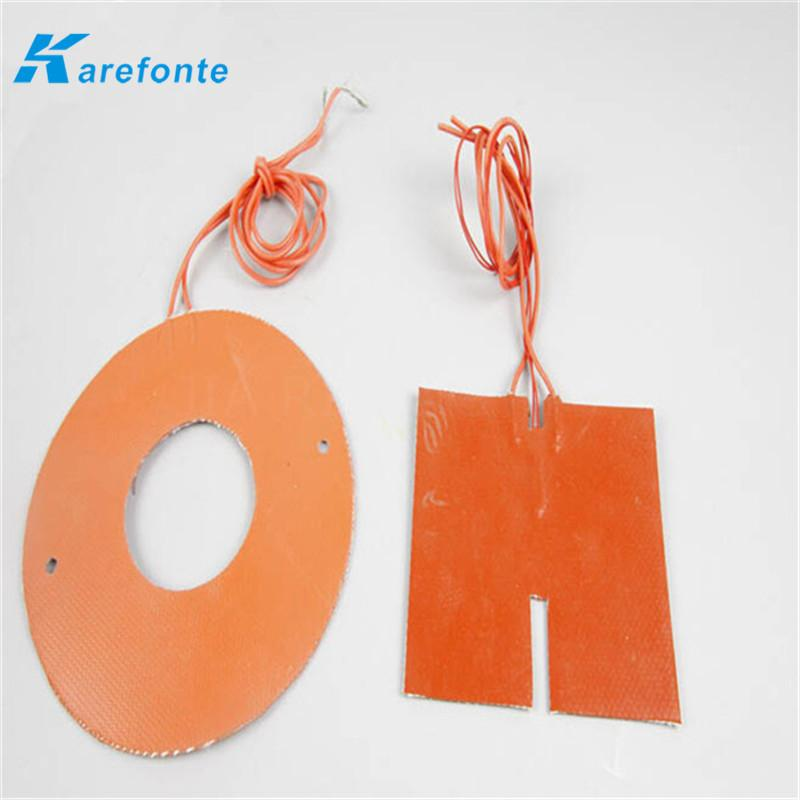 Any Size Voltage Can Be Customized Silicone Rubber Heating Film Heater Sheet  2