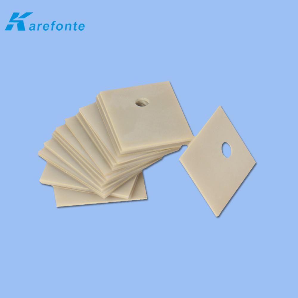 大功率氮化铝陶瓷散热片 陶瓷基板薄片 导热绝缘ALN氮化铝陶瓷片  2
