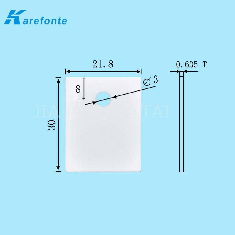 0.635x21.8x30mm Alumina Ceramic IGBT Insulation Al2O3 Ceramic Plate 1