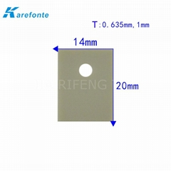 TO-220 Aln 14x20mm  High Thermal Condcutivity Aluminum Nitride Ceramic