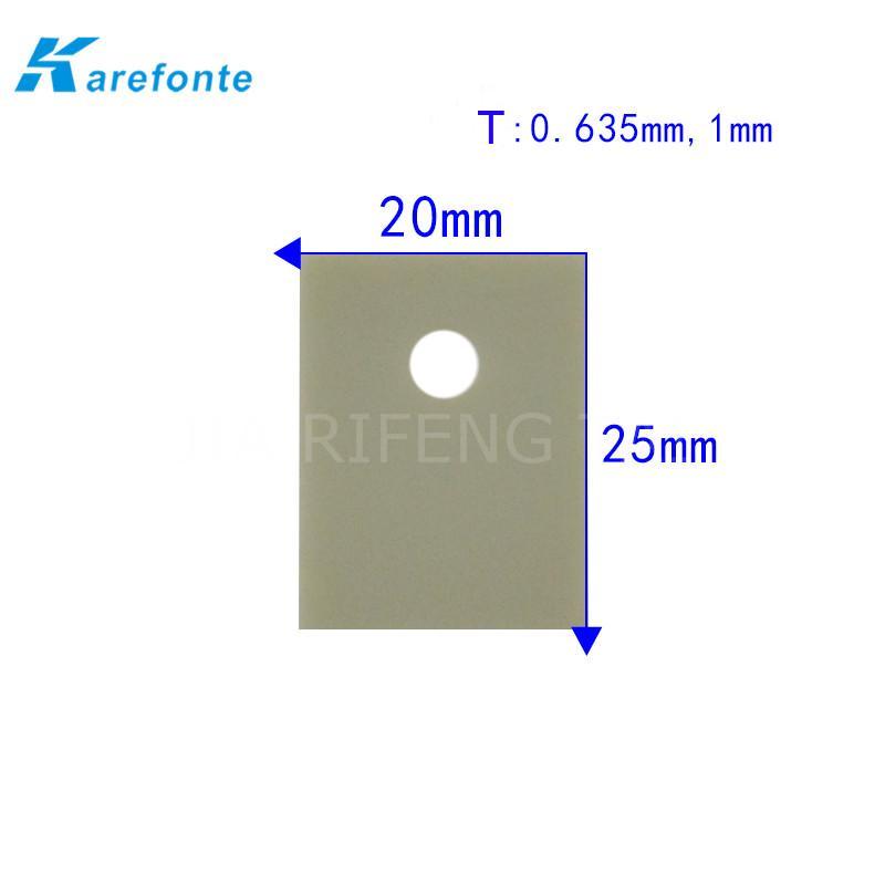 高导热绝缘陶瓷片 TO-3P 20x25mm  氮化铝陶瓷散热片 IGBT 模组陶瓷绝缘片 1