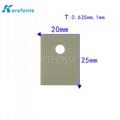 高导热绝缘陶瓷片 TO-3P 20x25mm  氮化铝陶瓷散热片 IGBT 模组陶瓷绝缘片