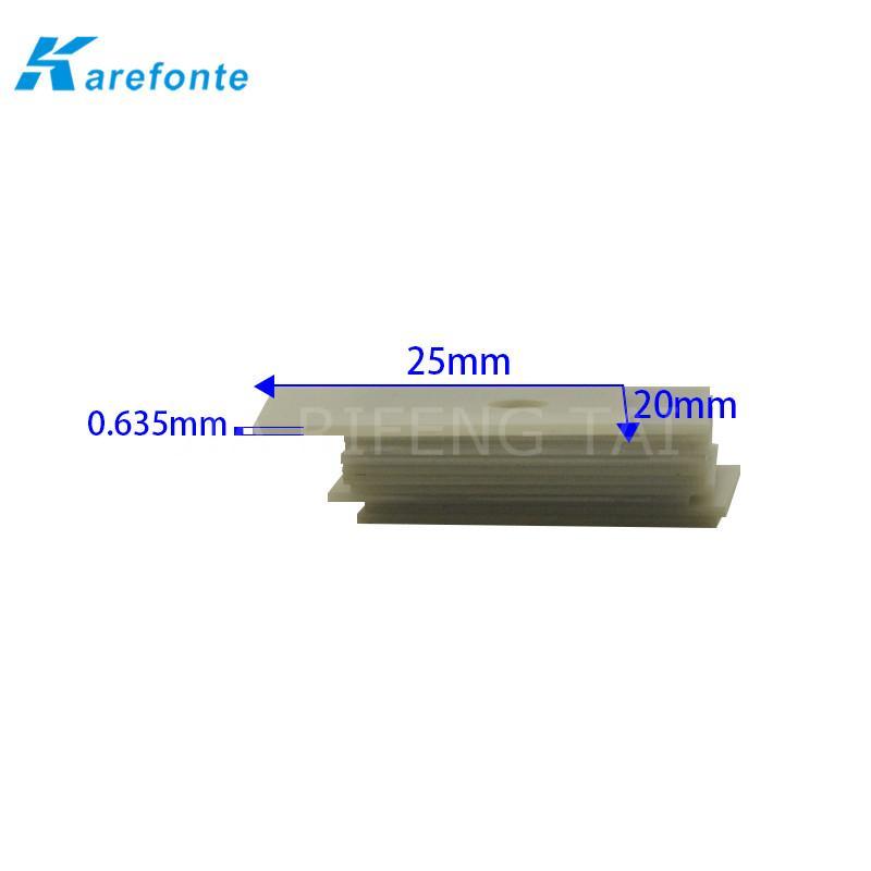 高导热绝缘陶瓷片 TO-3P 20x25mm  氮化铝陶瓷散热片 IGBT 模组陶瓷绝缘片 2