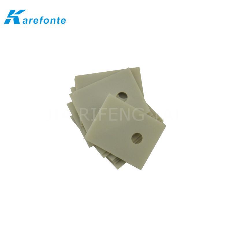 高导热绝缘陶瓷片 TO-3P 20x25mm  氮化铝陶瓷散热片 IGBT 模组陶瓷绝缘片 3