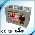 Thailand Style Ice Roll Pan Machine with