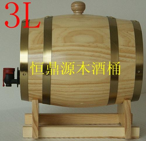 Pine decorative wooden casks aluminum foil liner5L 2