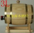 装饰木酒桶3L