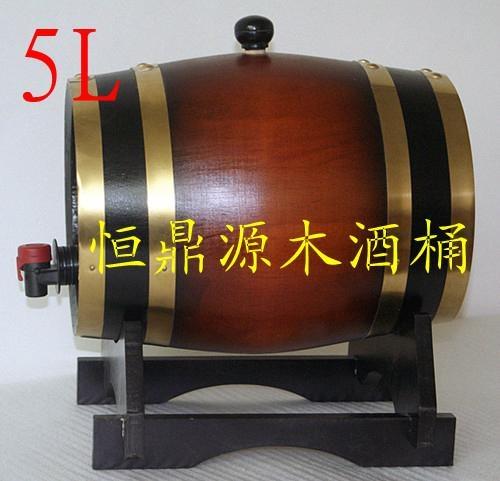 裝飾木酒桶3L 2
