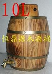 紅酒木桶10L