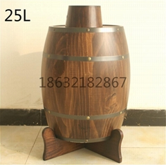 25 L wood barrel