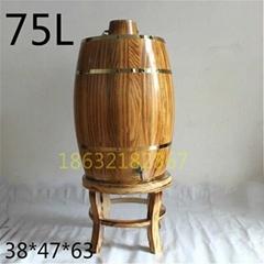 75升木酒桶