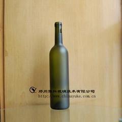 優質食品包裝瓶類玻璃蒙砂粉