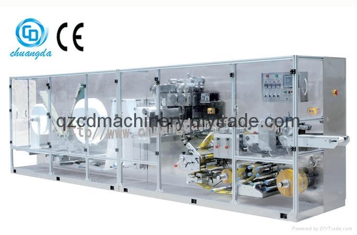 Full automatic high-speed single piece wet wipe machine  1