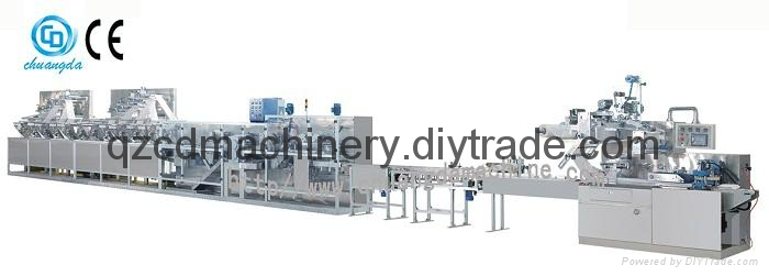 Automatic Wet Wipe Wet Tissue Machine Production line 1