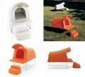 Rotomolding plastic pet house 1