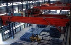 magnet overhead crane with carrier beam