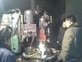 纽科伦公司LD车轮三工位钻孔专机正式投入使用