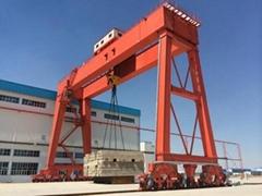 RTG crane; Rubber-tyred container crane 45 ton