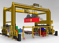 RTG crane; Rubber-tyred container crane 40 ton
