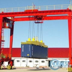 RTG crane; Rubber-tyred container crane 35 ton