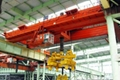 double girder overhead crane with magnet