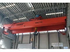 Double beam electric bridge crane for warehouse