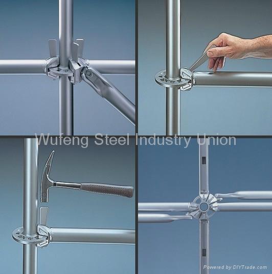 Galvanized Ring Lock Scaffold / Ringlock Standard, Ledger, Rosette for building 5