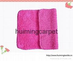 100%cotton double door mat,bath mat,rose color mat
