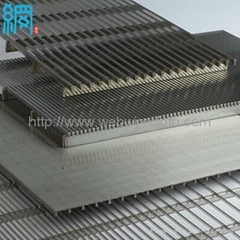 Wedge Wire (Vee-Shaped or V wires) Flat Screen Panel