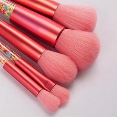 5支糖果水晶杆粉毛化妝刷