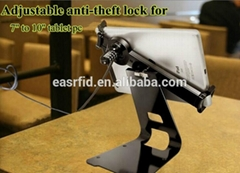 Adjustable Anti-theft display stand with lock cable fit to 7- 10'' tablet pcs