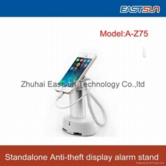 Metal Security display stand for cell phone with alarm charging