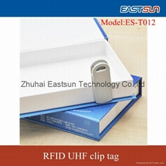 RFID UHF  clip Tag used directly clamped items for books