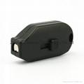 Black/white color ABS security hook Stop Lock magnetic hook  lock