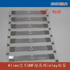 high performance UHF RFID Alien 9630 inlay for Apparel hang tags