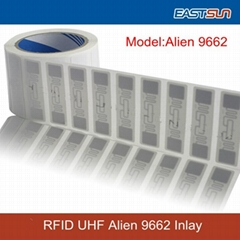high-performance RFID Alien 9662 inlay with Alien H3 chip FOR Asset management (Hot Product - 1*)