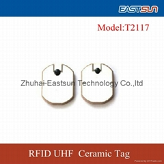 High quality uhf ceramic rfid tag with anti-metal function for asset management
