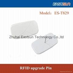 UHF pin tag with EAS  security tag for clothing store anti-theft management