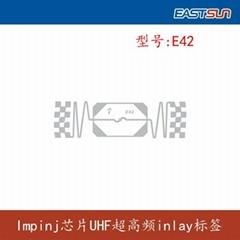 UHF RFID smart label impinj inlay E42
